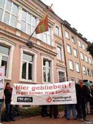 Demonstration vor dem spanischen Konsulat