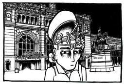 """Comic-Entwurf """"Geschichten aus der verbotenen Stadt"""""""