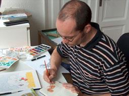 Ingo Siegner bei der Arbeit