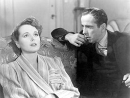 Humphrey Bogart als Sam Spade und Mary Astor als Miss Wonderly