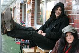 Ellis und Frank ganz entspannt