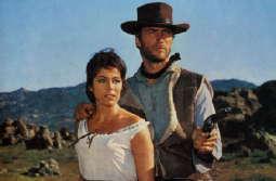 """""""Für eine Handvoll Dollar"""", Szenenfoto mit Clint Eastwood und Marianne Koch"""