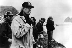 """Regisseur Jim Jarmusch am Set von """"Dead Man"""""""