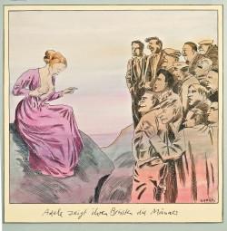 """""""Adele zeigt ihren Brüsten die Männer"""", Friedrich Karl Waechter 1984"""