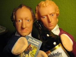 Goethe und Schiller, Handpuppen