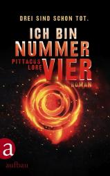 """""""Ich bin Nummer Vier"""", Buchcover"""