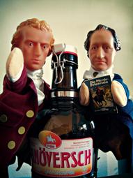 Goethe und Schiller streiten über Buch und Bier