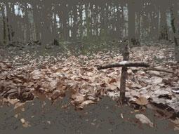Waldgrab mit Kreuz