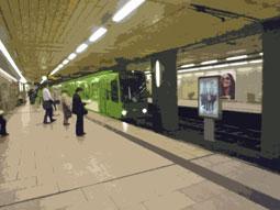 U-Bahn-Station mit Passanten
