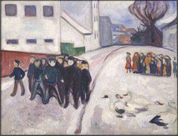 """Edvard Munch: """"Dorfplatz in Elgersburg"""""""