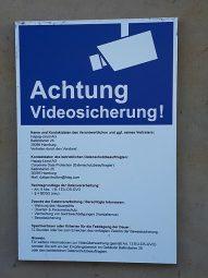 DSGVO-Erklärung bei der Videoüberwachung