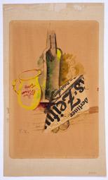 """Elena Liessner-Blomberg: """"Stillleben Berliner Zeit"""", 1921, Collage"""