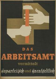 Werbeplakat Arbeitsamt 1920er-Jahre
